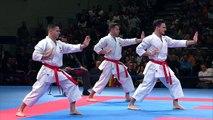Final Male Team Kata SPAIN. new World Karate Championships