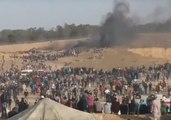 Palestinians Gather in Protest at Gaza-Israel Border