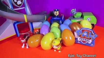 PAW PATROL [Nickelodeon] SURPRISE EGG VIDEO with Paw Patrol Toys PARODY