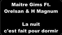 Maître Gims ft. Orelsan & H Magnum - La nuit c'est fait pour dormir (Paroles/Lyrics)