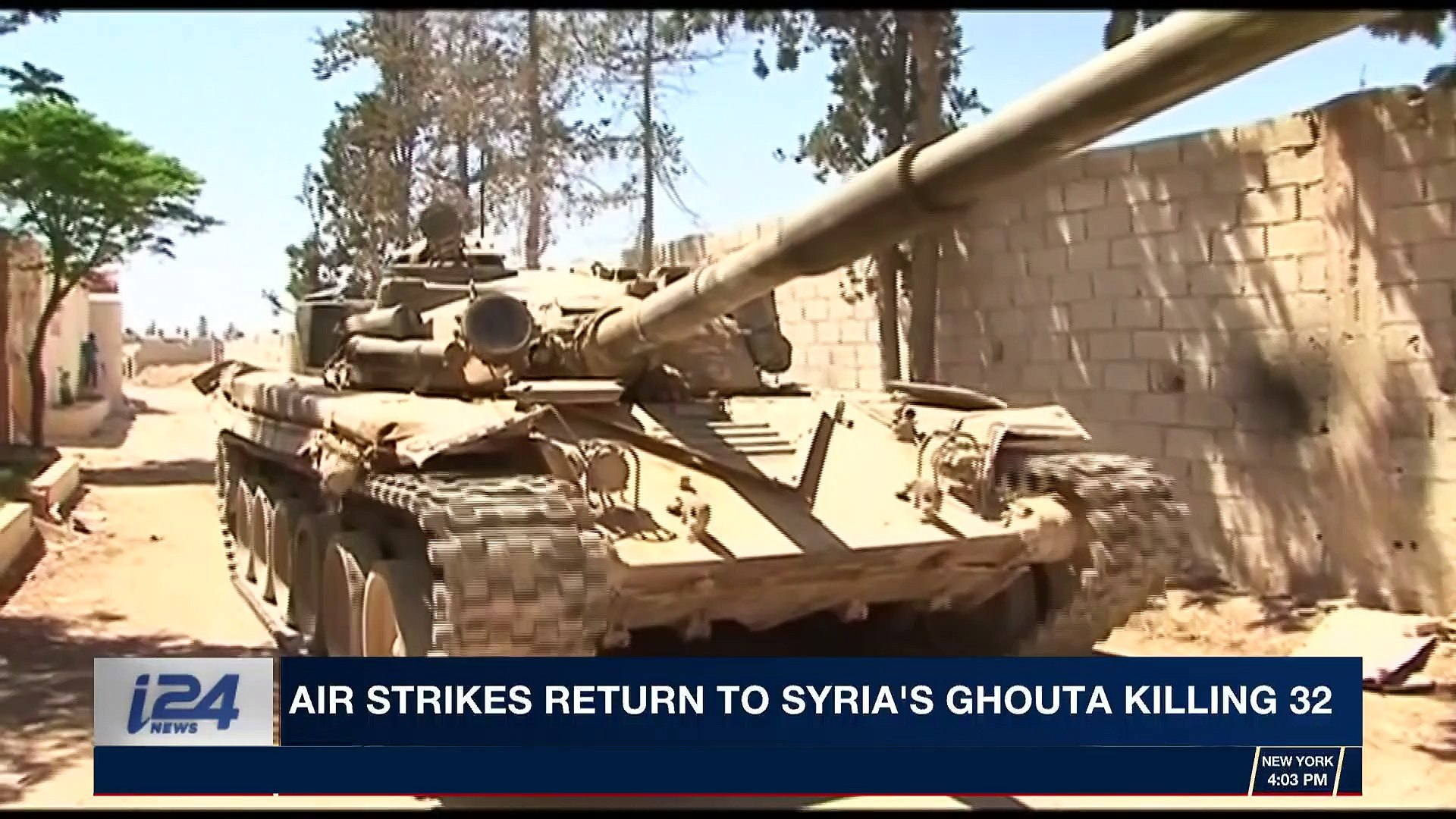 i24NEWS DESK | Air strikes return to Syria's Ghouta killing 32 | Friday, April 6th 2018