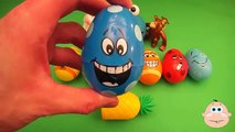 Kinder Surprise Egg Learn-A-Word! Spelling Play-Doh Shapes! Lesson 4 (Teaching Letters Opening Eggs)