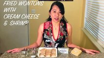 How To Make Fried Wontons With Cream Cheese Shrimp-Asian Food Recipes
