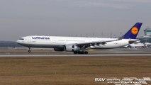Airbus A330 Lufthansa D-AIKG - nose up landing at Munich Airport [2160p25]