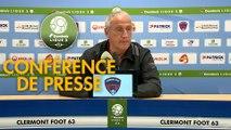 Conférence de presse Clermont Foot - Chamois Niortais (2-2) : Pascal GASTIEN (CF63) - Denis RENAUD (CNFC) - 2017/2018
