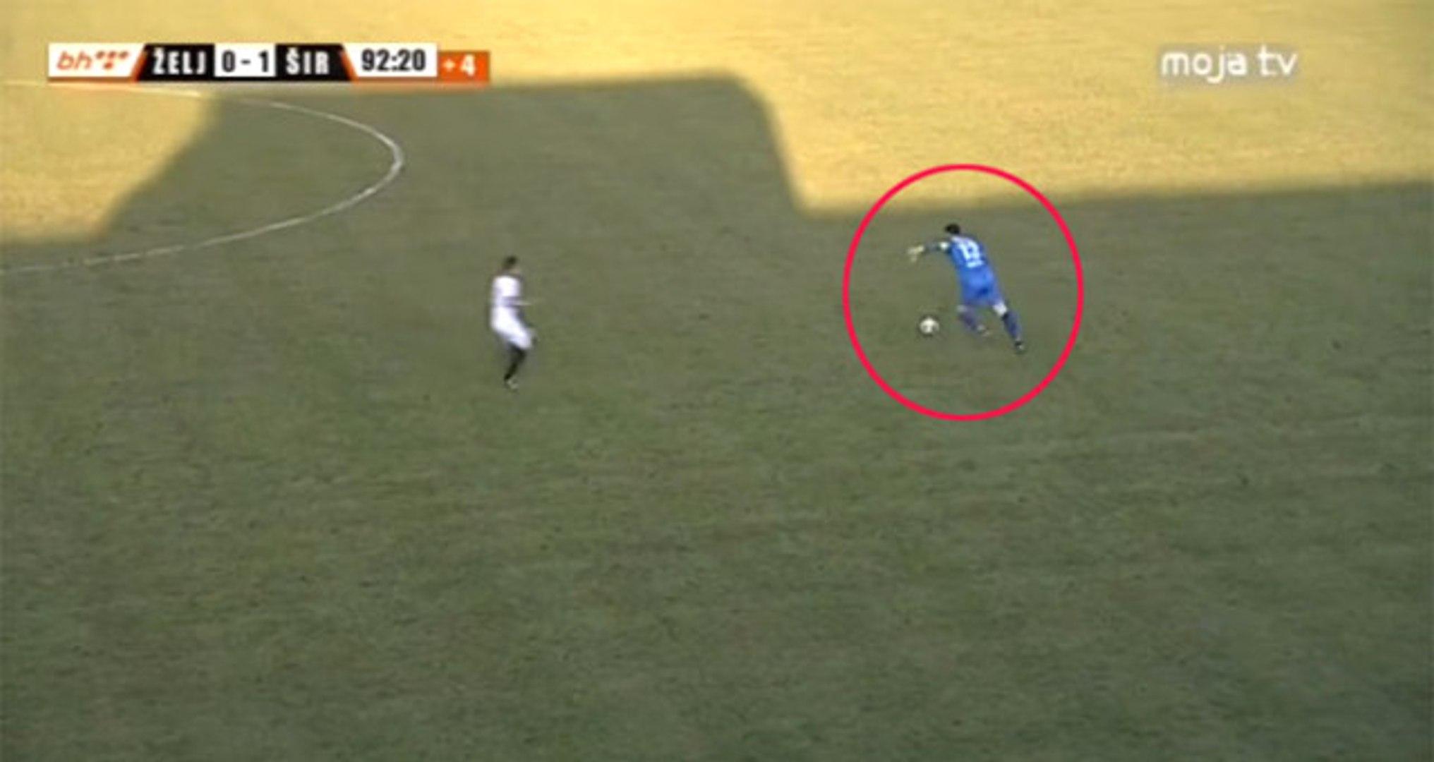 Bosna-Hersek Liginde Kaleci Vedran Kjosevski 60 Metreden Gol Attı