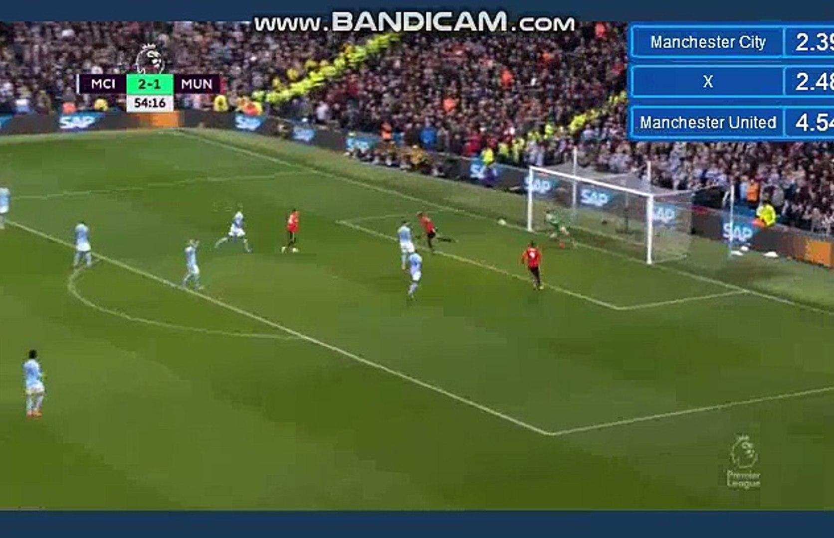 Résumé Manchester City 2-2 Manchester United deuxième but Paul Pogba