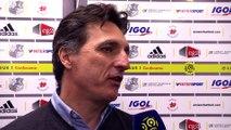 Après le match Amiens SC - SM Caen, ITW Christophe Pélissier