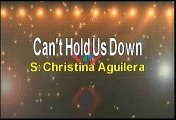 Christina Aguilera Can't Hold Us Down Karaoke Version