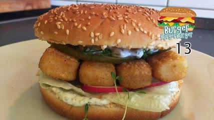 Bratfisch-Burger mit heller Sauce  - BurgerBurgerBurger 13