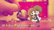 Sanu Ek Pal Ek chain Rahat Fateh Ali Khan WhatsApp status - Lyrics video - Valentines week special