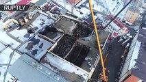 Dramáticas imágenes muestran como quedó el centro comercial incendiado en Rusia