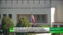 Turquía advierte a su ciudadanos contra los viajes a EE.UU por el riesgo de atentados y detenciones