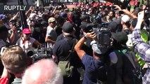 Arrestos y enfrentamientos en Berkeley entre manifestantes de derechas y una contramanifestación