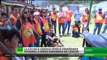 Ecuador: La escuela granja ofrece enseñanza integral a niños enfermos de cáncer