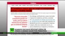 Bombero español rehúsa transportar armas a Arabia Saudita por principios