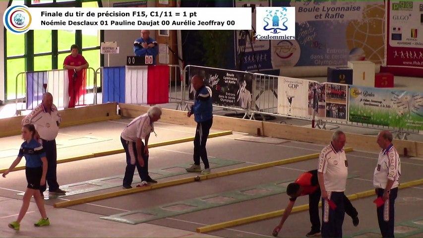 Finale du tir de précision F15, France Tirs, Coulommiers 2018