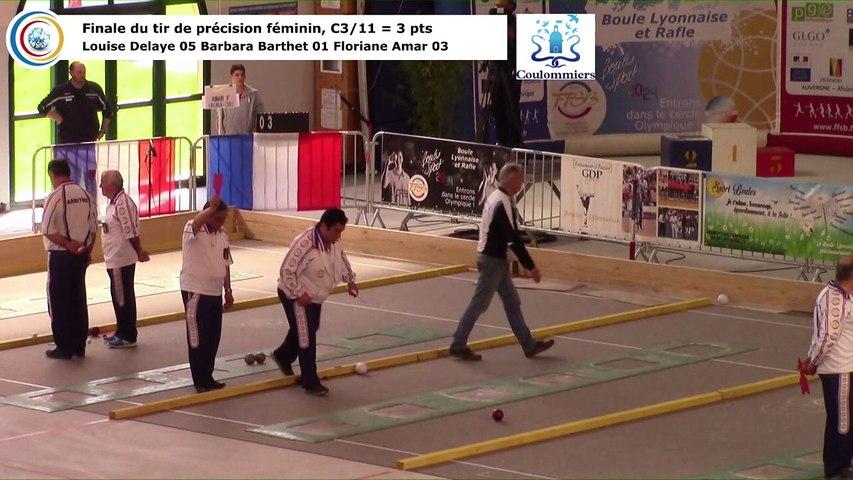 Finale du tir de précision féminin, France Tirs, Coulommiers 2018