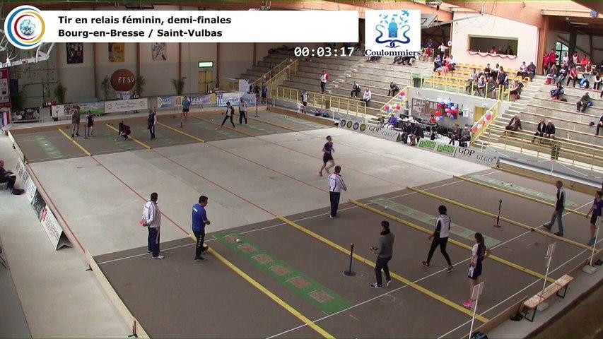 Demi-finales, tir rapide en double féminin, France Tirs, Coulommiers 2018