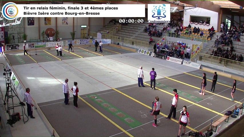 Petite finale 3ème et 4ème places, tir rapide en double féminin, France Tirs, Coulommiers 2018