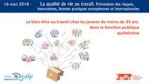 Le bien-être chez les jeunes de moins de 35 ans dans la fonction publique québécoise