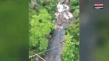 Malaisie : Une star de la télé-réalité fait du saut à l'élastique avec sa fille de 2 ans dans les bras (Vidéo)