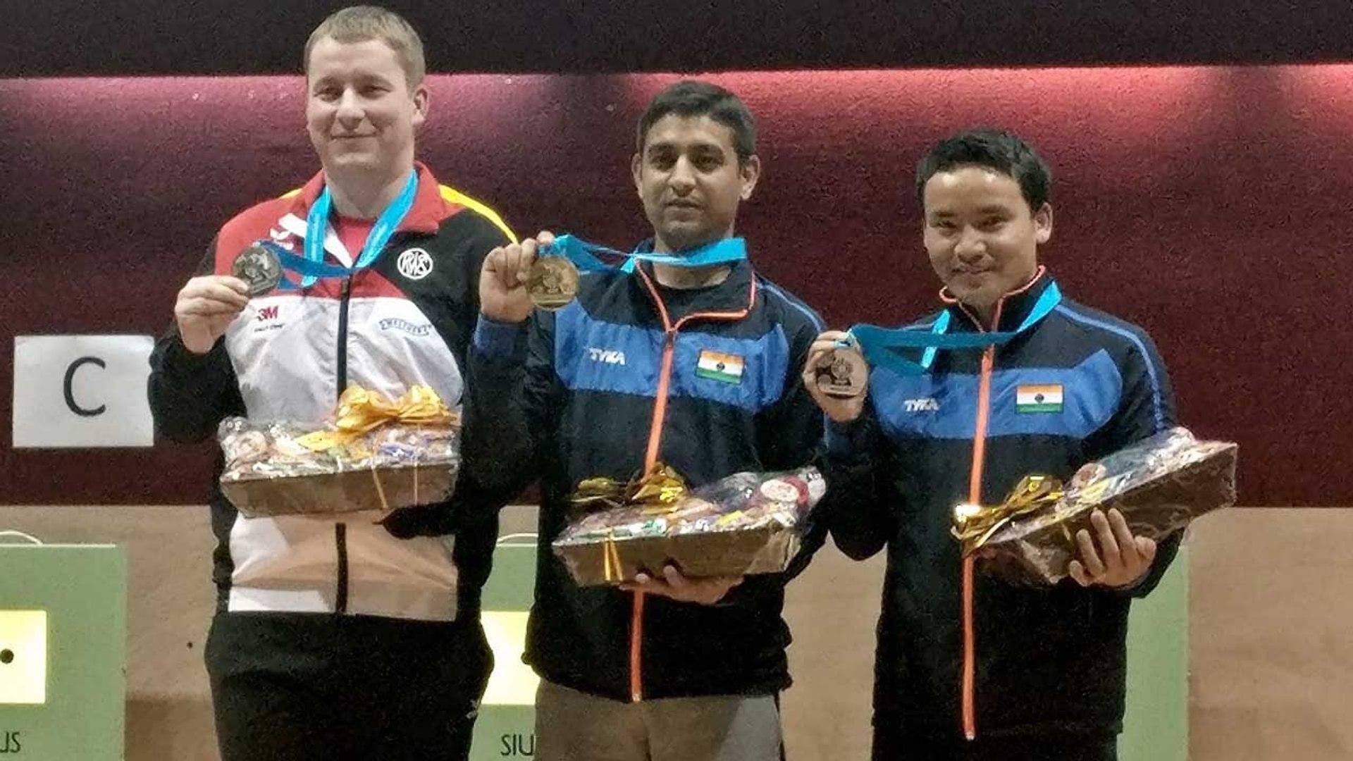 CWG 2018 : Jitu Rai and Om Prakash Mitharwal bags gold and bronze medals in shooting | Oneindia News