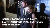 John Krasinski and Emily Blunt Adopted Ryan Reynolds This Weekend