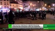 Protestas contra el abuso policial en París derivan en enfrentamientos con los agentes