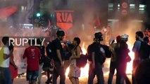 Fuertes choques entre Policía y manifestantes anti-Temer en medio de juicio contra Rousseff