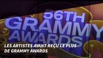 Les artistes ayant reçu le plus de Grammy Awards