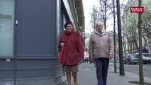 Bien marcher, le secret de  la longévité pour ce couple de personnes âgées parisien.
