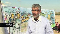 فنانون فلسطينيون يرسمون في غزة لوحات ترمز لذكرى النكبة