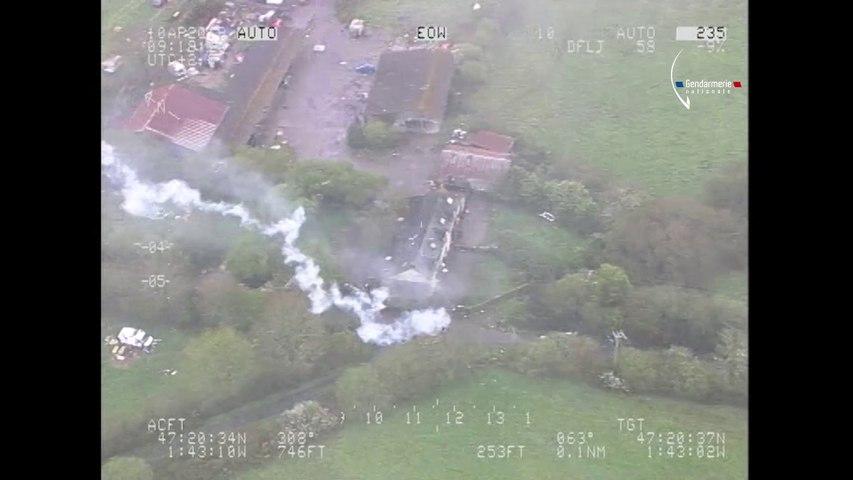 NDDL: ZAD Tirs sur l'Hélico Gendarmerie - Bretagne Télé