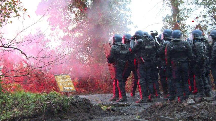 NDDL: Action Gendarmerie ZAD - Bretagne Télé