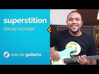 Stevie Wonder - Superstition (como tocar - aula de guitarra)