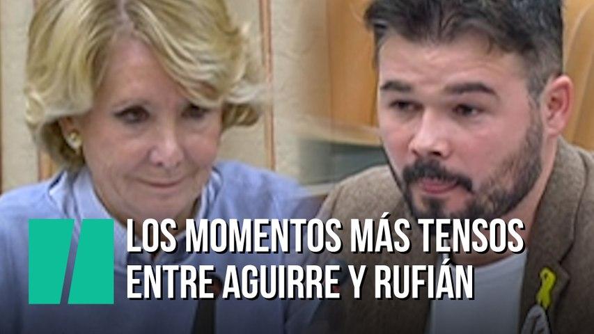 Los momentos más tensos entre Esperanza Aguirre y Gabriél Rufián