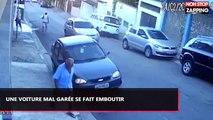 Il gare sa voiture du mauvais côté de la route et va très vite le regretter (vidéo)
