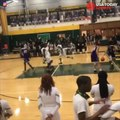 Baller shows off insane hops with putback dunk