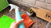 كارثة الأواني في المطبخ /فوضى / تنظيف و ترتيب /إضاءة جديدة/تحدي الكسل