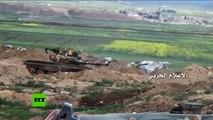 El Ejército de Siria en plena batalla con el Frente Al Nusra en Alepo