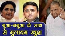Akhilesh Yadav, Mayawati के साथ आने से खुश Mulayam Singh Yadav, कहा दूर नहीं है Delhi।वनइंडिया हिंदी
