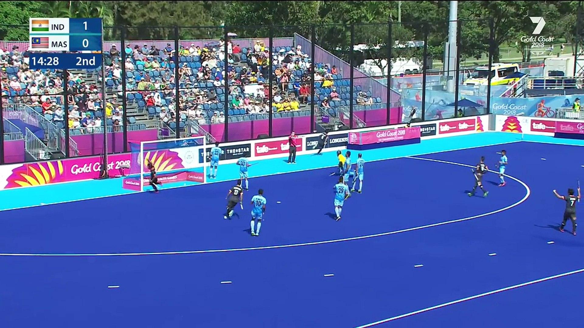 Highlights- India v Malaysia - Hockey - Men's Pool B - Gold Coast 2018