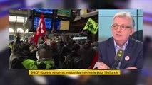 """Pierre Laurent reproche à François Hollande d'avoir """"préparé la réforme SNCF qui vient aujourd'hui"""""""