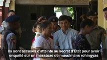 Birmanie: poursuites maintenues contre des journalistes Reuters