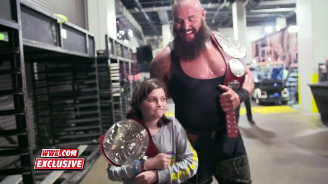 Braun Strowman leads young Nicholas to his first WWE photo shoot_ Exclusive, April 8, 2018