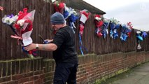 Hither Green floral tributes torn down for fourth time – video report