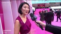 """"""" C'est une vraie belle réussite"""" Fleur Pellerin au micro de Laurent Weil - CANNESERIES 2018"""