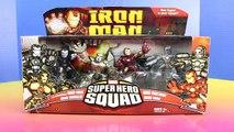 Marvel Super Hero Squad With Iron Man War Machine Iron Monger & Imaginext Joker