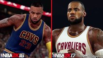 NBA 2K17 vs NBA 2K16 Players Faces Comparison Ft. LeBron James, Stephen Curry, Kevin Durant.etc